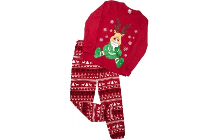 Пижама красная - Согрейся с олененком