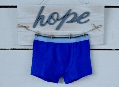 Боксерки для мальчика синие с пришитой резинкой