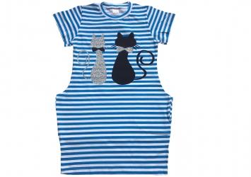 d887cfa667f5b7 Сукня в синю полоску - Коти