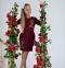 Платье- Рози бордо