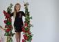 Сукня -Троянди чорна